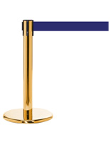 "24"" Crowd Control Post with Blue Belt"