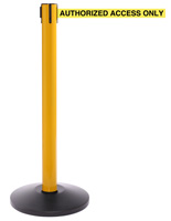 Yellow Stanchion with 16' Belt