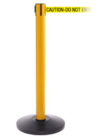 Retractable High Visibility Stanchion for Busy Events