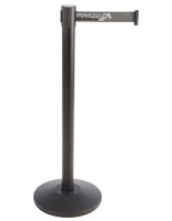 Economy Stanchion with Gray Printed Belt