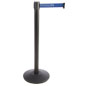 Customizable Stanchion with Blue Printed Belt
