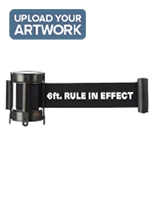 Crowd Control Black Custom Stanchion Belt with 1 Color Printing