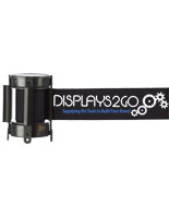 Retractable Black Custom Stanchion Belt with 2 Color Printing