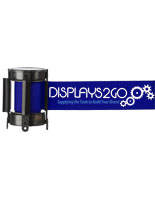 Branded Blue Custom Stanchion Belt with 2 Color Printing