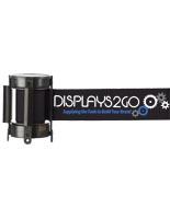 Black Custom Stanchion Belt with 3 Color Printing for Branding
