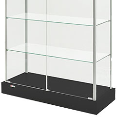 rectangular display cases