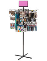 "Rotating Grid Rack with 12"" Pegs Includes 20 Hooks"