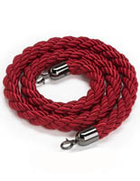 6.5' Red Braided Nylon Rope