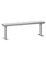 Metal Locker Room Bench with Silver Finish