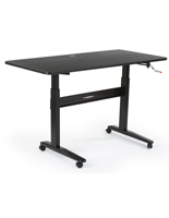 Rolling Manual Height Adjustable Desk