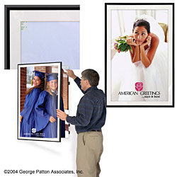 aluminum swinging poster holders