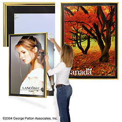 gold swinging poster frame