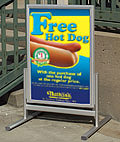 "Sidewalk Sign: Holds (2) 22"" x 28"" Posters Back-to-Back"