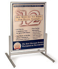 "Pavement Sign: Snap Frames Hold (2) 30"" x 40"" Posters"
