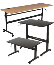 sit & stand deska and training tables