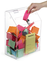 Clear Suggestion Box with 1 Pocket - Wall or Tabletop