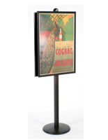 snap poster frame stands large sign frames w wout brochure pockets