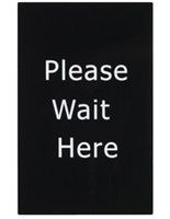 """Please Wait Here"" Stanchion Sign for Restaurants"