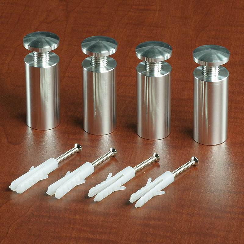 Machined aluminum standoffs come with polished finishes
