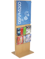 Sturdy Poster Stand With 10 Brochure Holders