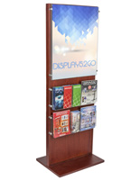 Poster Holder With 10 Leaflet Compartments for Shopping Centers
