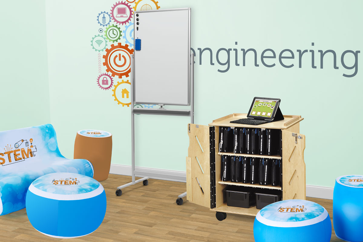 STEM Classroom with Inflatable Furniture