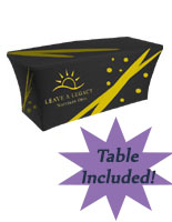 Portable Table with Custom Spandex Cover