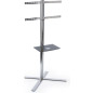 Stainless Steel Plasma Stand with Height Adjustable AV Shelf