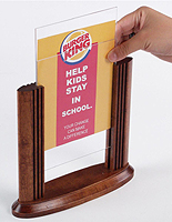 counter top sign displays