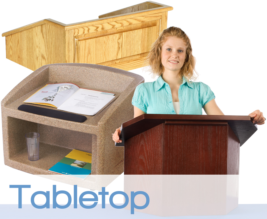 tabletop podiums