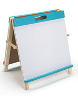 Kids Table Easel with Blue Finish