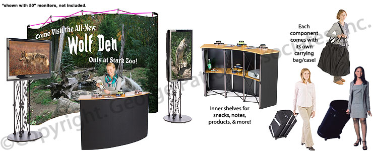 Exhibition Booth Counter : This monitor stand is impressive buy that