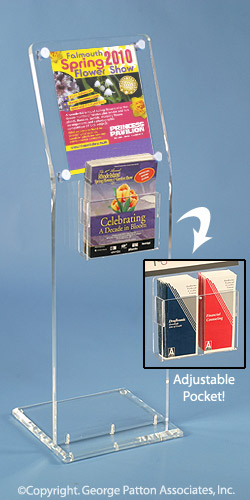 Acrylic flyer displays clear frames adjustable for Plastic flyer stand