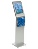 Angled 8.5 x 11 Sign Kiosk with Brochure Holder