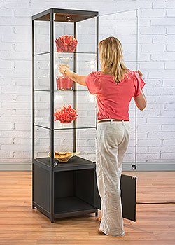 narrow display cabinets