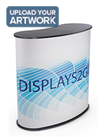 Curved Exhibit Counter with Graphic Wrap