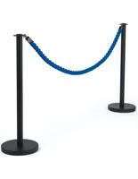 6.5' Blue Queue Rope with Post