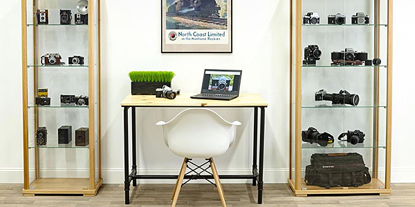 Ultimate home office with display cases