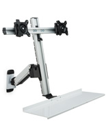 Dual LCD Monitor Wall Stand for 100x100 VESA