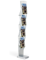 Tradeshow Literature Rack with 4 Pockets