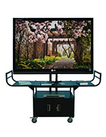 Flat Screen Cart with Tilting Bracket