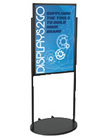 Black 24 x 36 Poster Stand with Wheels, Portable