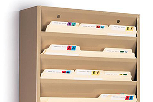wall file organizer | vertical folder racks for offices