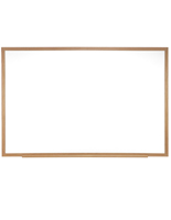 "Wood Framed Whiteboard  - 72""w x 48""h"