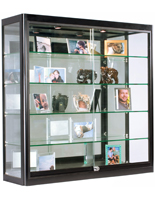 LED Wall Display Cabinet, Double Z-Bar Mounting
