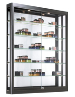 Wall LED Display Case with Adjustable Shelves