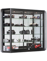 Wall Mounted LED Display Cabinet, Ships Fully Assembled