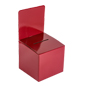 Red Cardboard Entry Box with Slanted Top