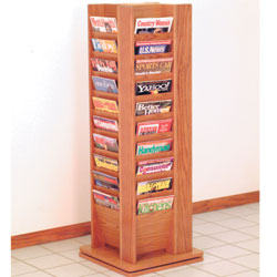 revolving wooden display
