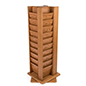 revolving wooden display solid wood